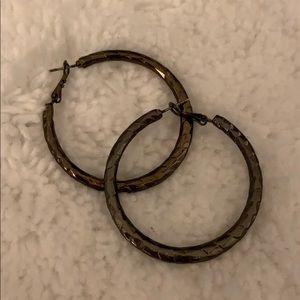 Gunmetal Hoop Earrings
